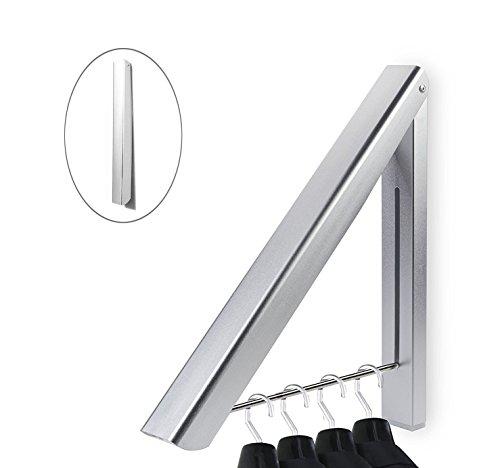 SOLEILER Cintre Pliable, Pliant Hanger en Durable Alliage d'Aluminium économie D'espace Pour Chambre / Salle de bain / Hôtel / Bureau et Libérer de l'Espace