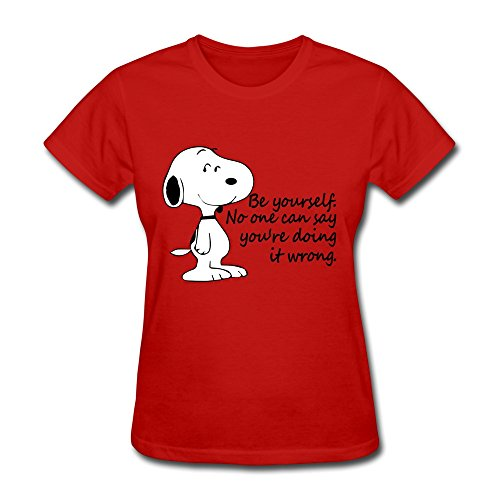 H 'nan para mujer Snoopy Be Yourself algodón Tees
