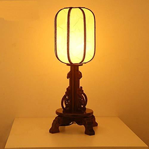 QOTS Chinesischen Stil Massivholz Schlafzimmer Nacht Vintage Land Hochzeitsfeier Studie Wohnzimmer Massivholz Tischlampe