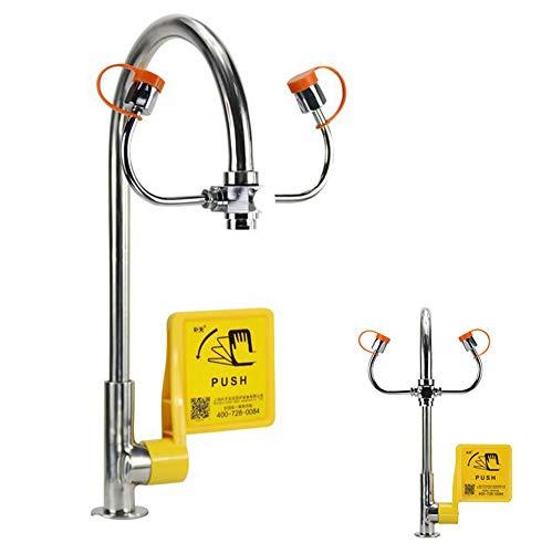 JL Augenwäscher für Lab Industry DREI Mund 12L / min Notfall-Augenspülmaschine Waschbecken Wasserhahn montiert Dicke Verkupferung Augenwaschstation