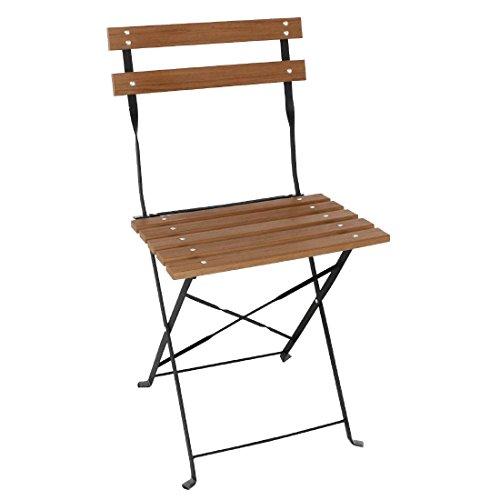 Bolero klappbare Terrassenstühle Holzimitat
