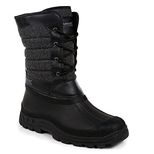 Regatta Okemo Snow Boot, Bota a la Altura de la Pantorrilla Hombre, Black, 46 EU