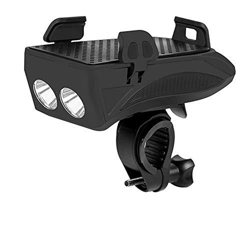 Fahrradscheinwerfer USB Wiederaufladbare 4-in-1-Multifunktions-Fahrradleuchte mit Handyständer 4000 MAH Power Bank 130 dB Lautsprecher Fahrradleuchten IPX65 Wasserdichter Fahrradscheinwerfer
