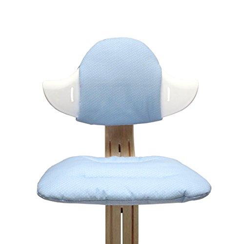 Blausberg Baby - Sitzkissen Set für Nomi Hochstuhl von Evomove - Hellblau Pünktchen