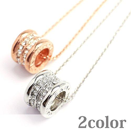 品 ラインストーン&シンプルデザインリングペンダント リングチャーム レディースネックレス necklace SPST021-SLV [並行輸入品]