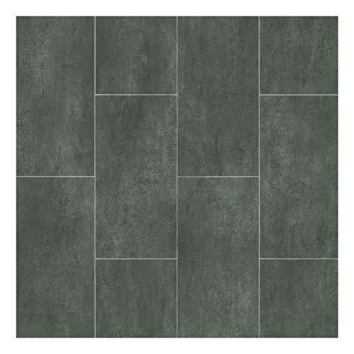 Sol PVC Best - motif Carrelage Gris Foncé Marbré (2m x 4m)