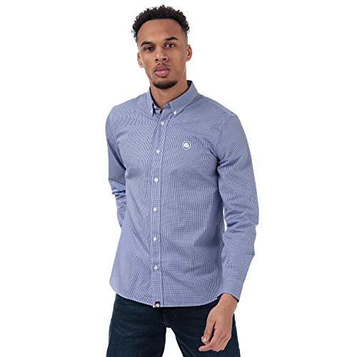 Pretty Green camicia a quadretti ls blu Sml Blue