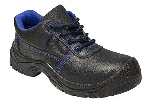 Zapatos de Seguridad para Hombres S3 SRC Cuero Trabajo Puntera de Acero y Entresuela de Acero Antideslizante Botas también Disponibles como Tobillo y Tobillo Medio, Negro