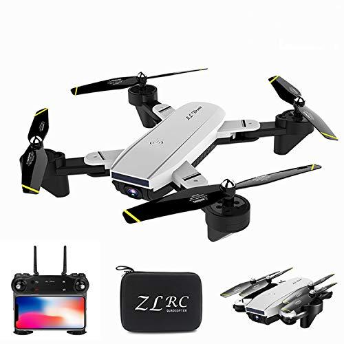 XIAOKEKE Drohne Mit 4K Kamera Full-HD Live Übertragung, RC Quadcopter Mit Bürstenloser Motor, 20 Min Lange Flugzeit, Follow Me, 5G WLAN FPV, Handy Gesteuert Inkl, Koffer Für Anfänger,Weiß