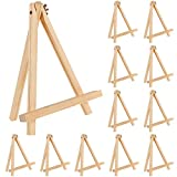 Jekkis 9 Inches Tall Wood Easels Set of 12 Tabletop Display Easels, Art Craft Painting Easel Stand for Artist Adults Students