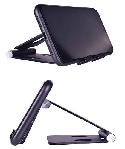 Aurueda Support de téléphone Portable réglable en Aluminium Pliable Support de téléphone de Berceau de téléphone de Bureau pour iPhone iPad Smartphones tablettes