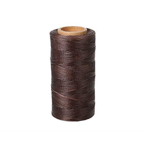 260m 150D 0,8 mm de Piel Cosido a Mano de Costura Encerado Herramientas de Costura (Color : Coffee)
