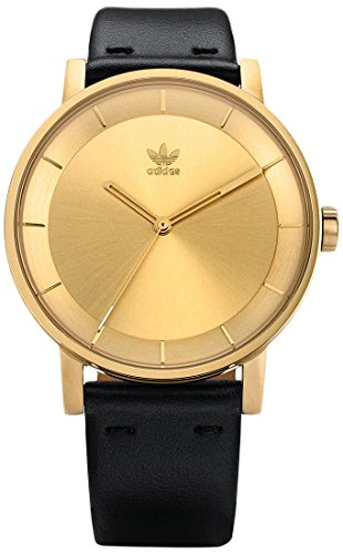 Adidas Damen Analog Quarz Uhr mit Leder Armband Z08-510-00