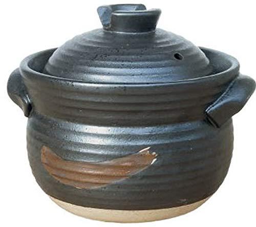 リビング,炊飯土鍋 ごはんや讃 黒 3合炊き