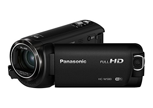 Panasonic HC-W580 - Videocámara de 50x, O.I.S de 5 Ejes, F1.8 - F4.2, Zoom 28 mm - 1740 mm, HD, HDR, SD, Time-Lapse, Zoom 90x Inteligente, Color Negro