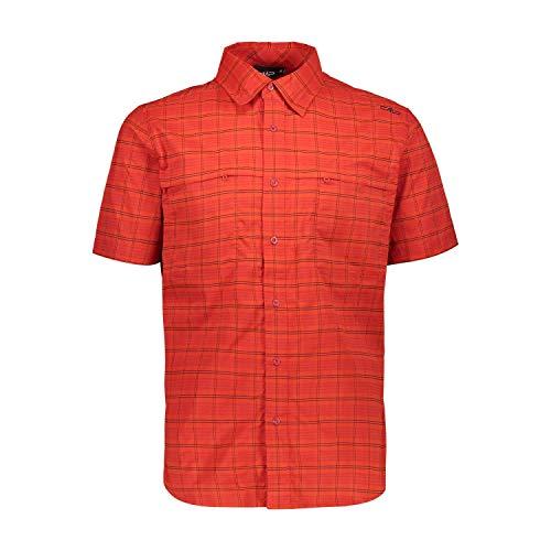 CMP Herren Kurzarm Hemd Man Shirt 30T9457 Antracite-Malboro 52