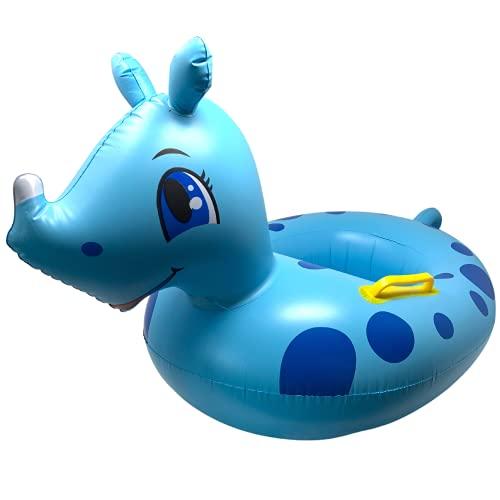 NAMAI Salvagente Neonato, Canotto Gonfiabile per Bambini, Simpatico con Mutandina, Ciambella Neonato Mare, Misure 50cm x 47cm Plastica Resistente (Baby Boat)