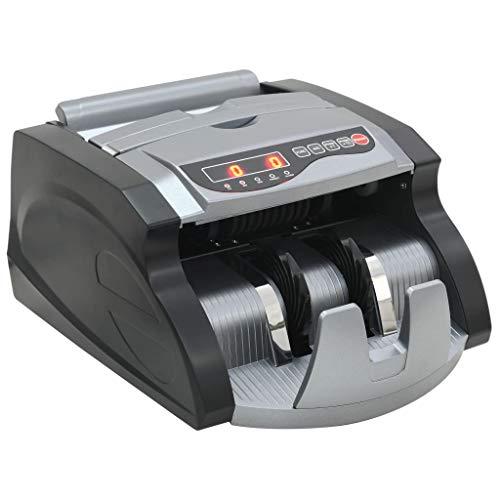 Tidyard Geldscheinzähler Geldzählmaschine Banknotenzählmaschine 27 x 25 x 17 cm für Banknoten und Geldscheine,Leistung: 90 WSchwarz und Grau