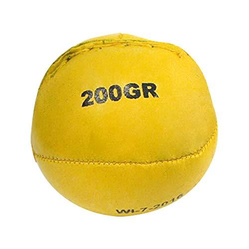 Wurf-und Schlagball aus Leder (gelb, 200 g)