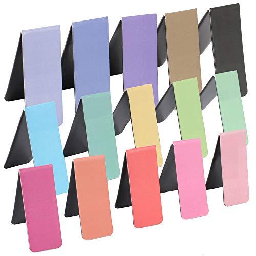 KINDPMA 15 Piezas Marcador Magnético Coloridos Marcadores de Libros Juego de Marcadores Magnéticos Marcapáginas Accesorios Lectura para Estudiantes Lectura Libros Oficina