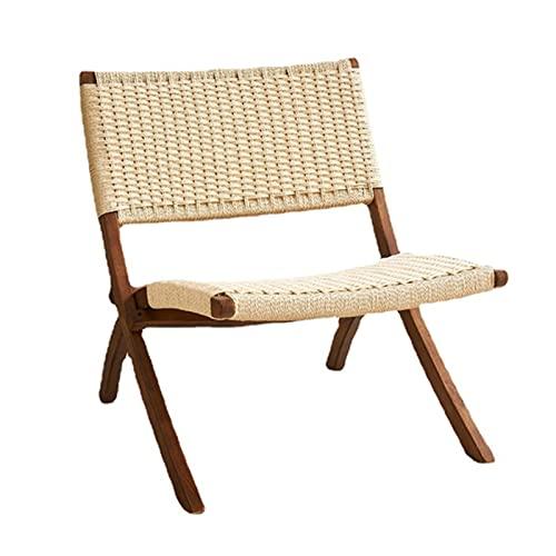 Folding chair Sedia Pieghevole in Rattan, Poltrona da Balcone, Sedia Pigra da Interno Semplice E Moderna in Rattan Singolo