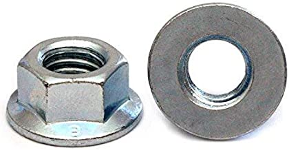 (10) M8 x 1.25 Zinc Hex Flange Nuts, Metric Coarse DIN 6923 / ISO 4161 Class 8 Steel Cr+3 RoHS - MonsterBolts (10, M8 x 1.25)