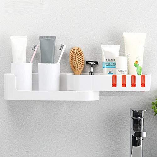 Hoek Badkamer Planken Keuken Wandplank Punch-Gratis Driehoekige Toilet Douche Opslag Rack Badkamer Accessoires Wit Oranje