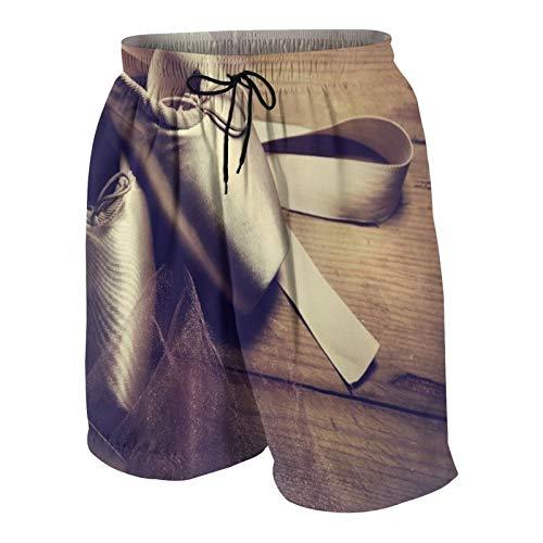 KOiomho Hombres Personalizado Trajes de Baño,Zapatillas de Ballet,Casual Ropa de Playa Pantalones Cortos