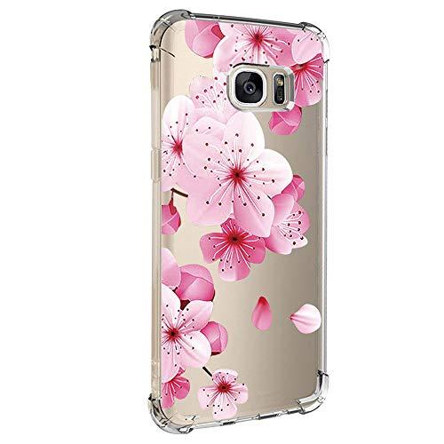 Kompatibel für Samsung Galaxy S6 Edge Hülle,Samsung Galaxy S6 Edge Handyhüllen Crystal Clear Ultra Dünn Flexibel Silikon Case Slim Transparent Schutzhülle Tasche case für Samsung Galaxy S6 Edge (7)