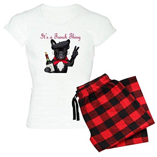 CafePress French Bulldog Women's Light Pajamas Womens Novelty Cotton Pajama Set, Comfortable PJ Sleepwear