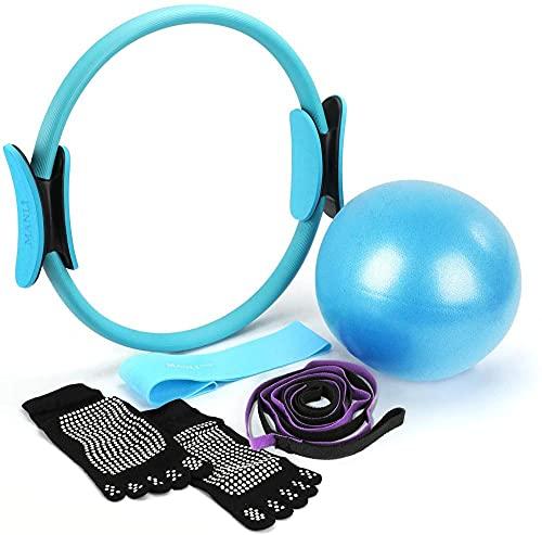 Pilates Ring Yoga Fitness Circle, Mini Ball, Strap Strap Band, Home Ejercicio Gimnasio Entrenamiento Fitness Equipment Kit
