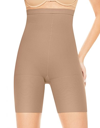 ASSETS Red Hot Label by SPANX Firm Control High-Waist Mid-Thigh Shaper, 4, Barest Bare