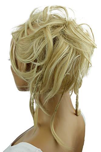PRETTYSHOP XXL Haarteil Haargummi Hochsteckfrisuren Brautfrisuren Voluminös Gewellt Unordentlich Dutt Hellblond Mix G22D