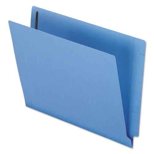 ESSELTE 엔드 탭 폴더-편지-8.5AQUOTX11AMPQUOT-스트레이트 컷 탭-0.75AQUOT확장-2 패스너-50 | 상자-11PT. -블루