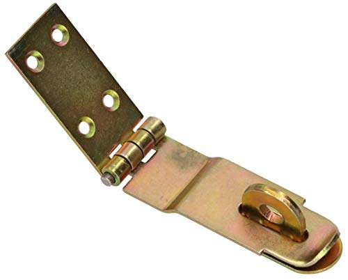 KOTARBAU® Überfalle 3 Verschiedene Größen Gelb Verzinkt Überlaufscharniere Torband Überwurf Absicherung Türschloss Panzerriegel Sicherheitsüberfalle (70 mm)