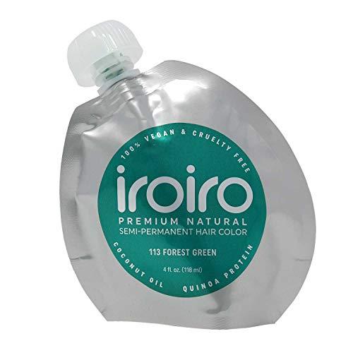 IROIRO Premium Natural Semi-Permanent Hair Color113 Forest Green (4oz)