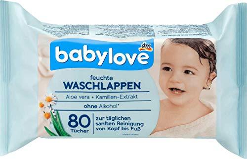 babylove Waschlappen feucht,1 x 80 St