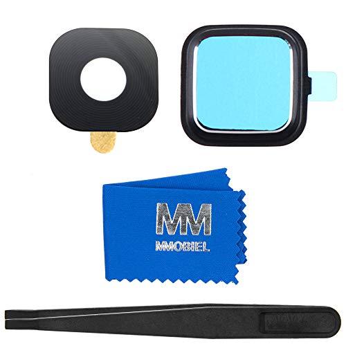 MMOBIEL Reemplazo de Lente para cámara Trasera (Posterior) Compatible con Samsung Galaxy Note 4 N910 (Negro) Incl Pinzas