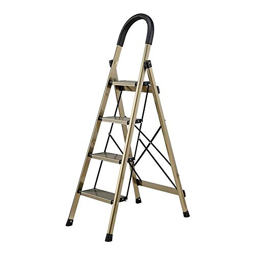 XinQing-Escaleras Plegables Escalera de Espiga Plegable Ingeniería Escalera Aleación de Aluminio Pedal Engrosamiento Múltiples Funciones Soporte de Flores Zapatillas de Secado Calcetines