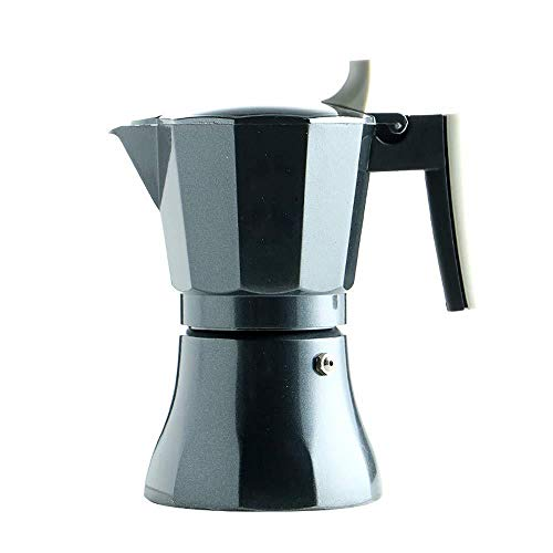 Find Bargain Stovetop Espresso Maker Moka Pot Italian Coffee Maker, Classic Cafe Percolator Maker Suitable for Induction Cookers, Black