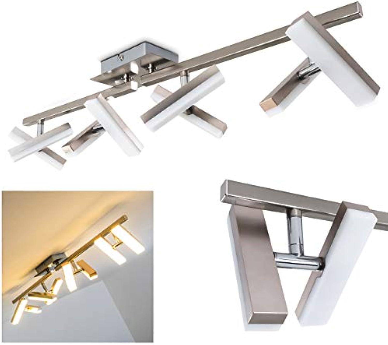 Deckenlampe Sakami mit LED-Lichtern – energiesparend – 8 verstellbaren Flammen aus Metall – Drehlampe für die Decke mit warmweiem Licht – moderne Designerleuchte für das Wohnzimmer