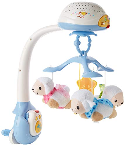 VTech Lullaby Lambs Mobile (Blue), Baby Night Light Projector, Baby Born Cot Toys, Newborn Baby Toys with Lights and Music, Soothing Baby Lights Projector for Boys and Girls Aged 0 Months to 3 Years