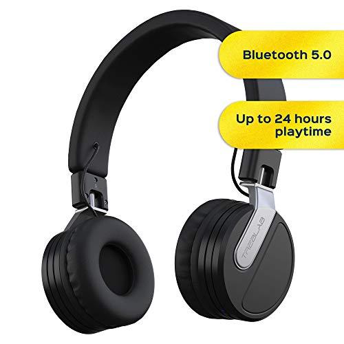 TREBLAB BT5 - Premium On-Ear Wireless Headphones - High-Intensity HD Sound w/Bluetooth 5.0...
