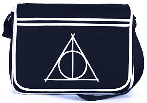 Shirtstreet24, Harry Triangle, Retro Messenger Bag Kuriertasche Umhängetasche, Größe: onesize,Navy