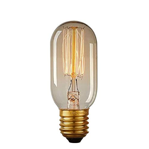 Kohlefadenlampe Old Style Retro T38 230V 40W E27-38x108