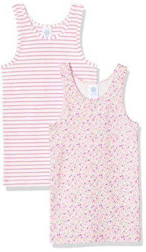Sanetta Mädchen Unterhemd Doppelpack Nachthemd, Rosa (rosa 3813), 92 (Herstellergröße:092)