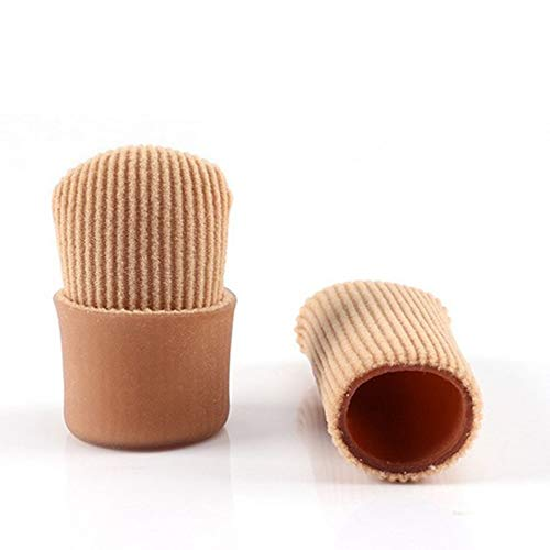 Protezioni per maniche in tessuto foderato in gel con punta aperta per prevenire calli, calli e vesciche mentre ammorbidisce e lenisce la pelle - Cach