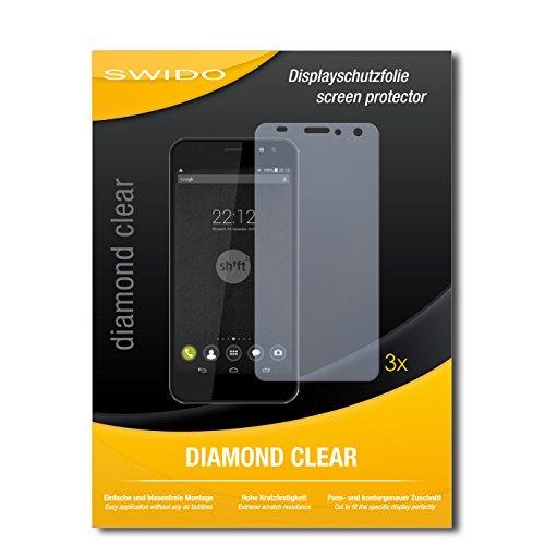 SWIDO 3 x Schutzfolie Shift Shift5+ Bildschirmschutz Folie DiamondClear unsichtbar