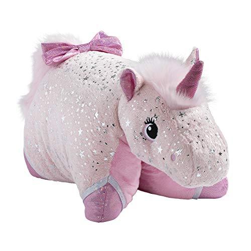 Pillow Pets Originals Sparkly Pink Unicorn Stuffed Animal Plush Toy