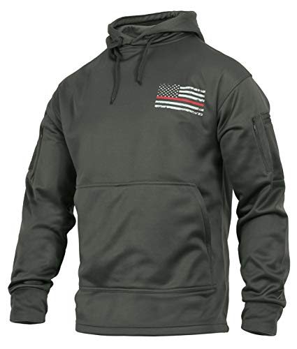 Rothco Thin Red Line Concealed Carry Hoodie, L, Grey